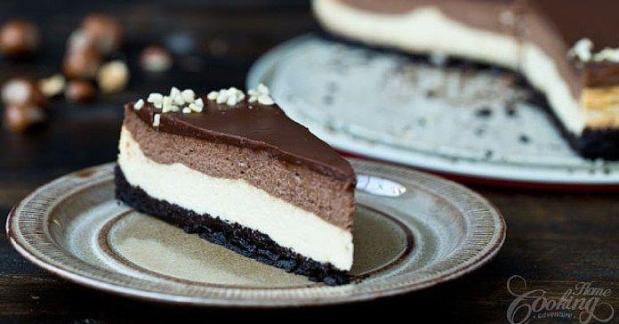 Recept na dvoubarevný cheesecake s Nutellou