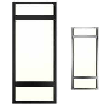 Exterior/Interior Integrated LED Square Light Fixture - outside garage