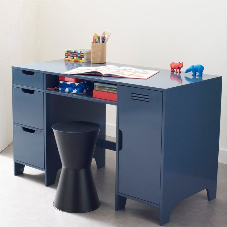 bureau enfant double caisson asper with bureau garcon vertbaudet. Black Bedroom Furniture Sets. Home Design Ideas