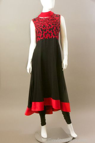 Black Red Asymmetric Anarkali