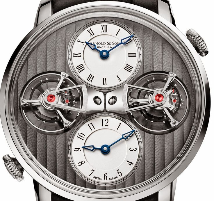 Arnold & Son - DTE Double Tourbillon Escapement Dual Time for 2015  #luxury #watches #tourbillon #watchmaking