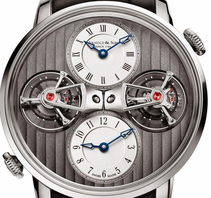Arnold & Son - DTE Double Tourbillon Escapement Dual Time for 2015  #luxury #watches #tourbillon #watchmaking