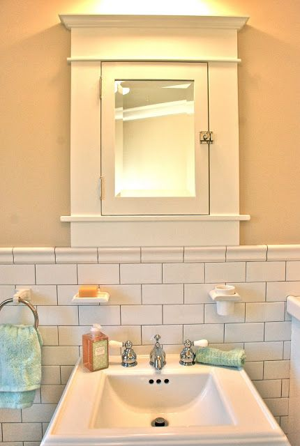This American Home: American Bath: Classic Craftsman. How I miss my medicine cabinet like this!