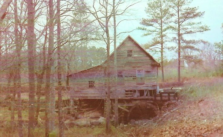 Mundy's Mill near Jonesboro Georgia (photo taken c1972). Mundy's Mill burnt down around 1985.