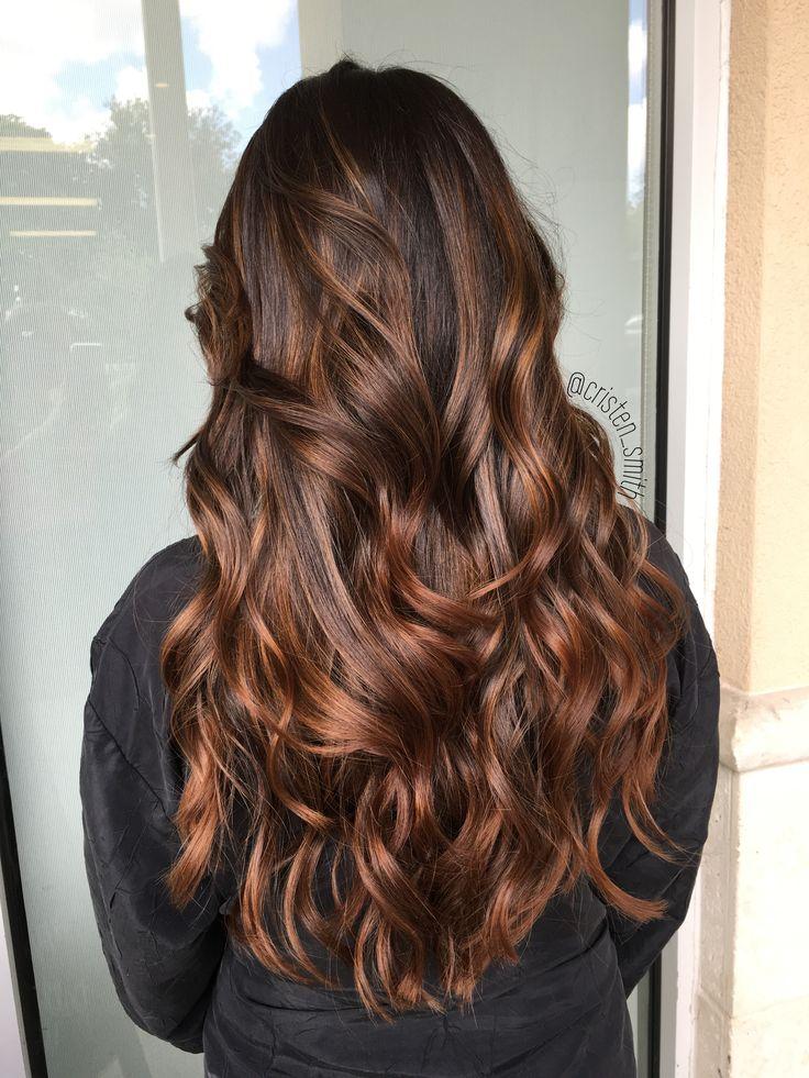 Warm Mocha Balayage Hair Beauty In 2019 Aveda Hair