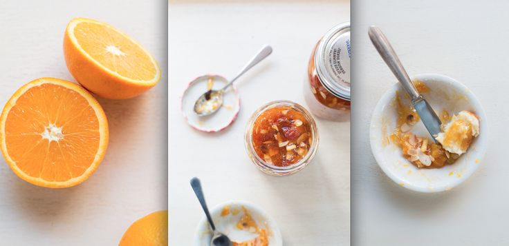 Orange and almond jam