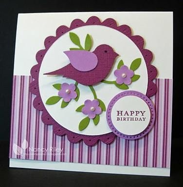 bird punch card Stampin Up