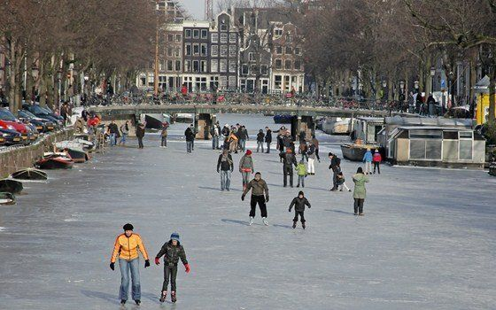 Winter Magic Amsterdam provides plenty to do, including skating on the canals. #Amsterdam #Christmas #winter