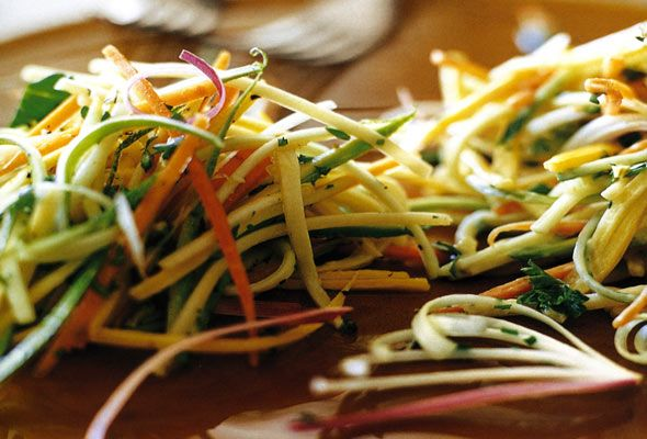 Zucchini Slaw Two Ways from Leite's Culinaria, a sara foster recipe