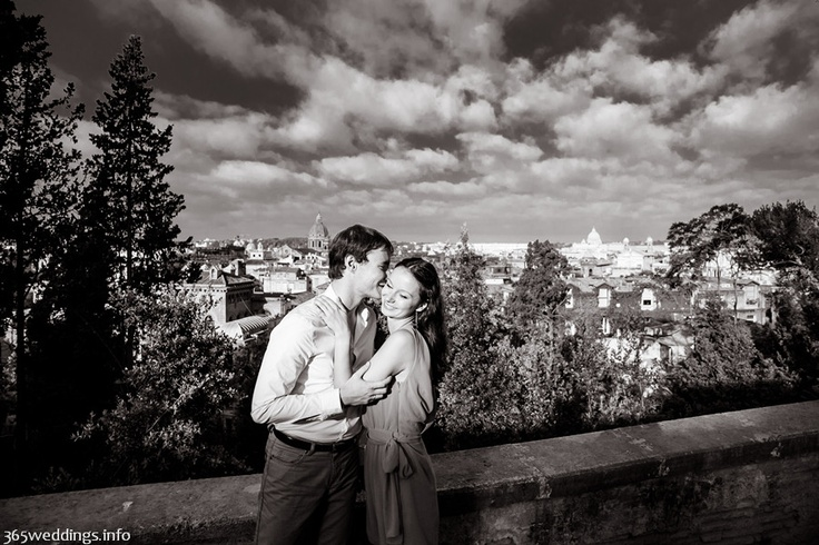 Engagement in Italy photo.