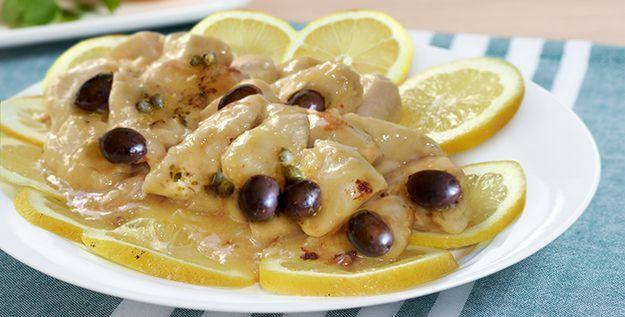 Pollo con olive capperi e limone - http://www.piccolericette.net/piccolericette/pollo-con-olive-capperi-e-limone/