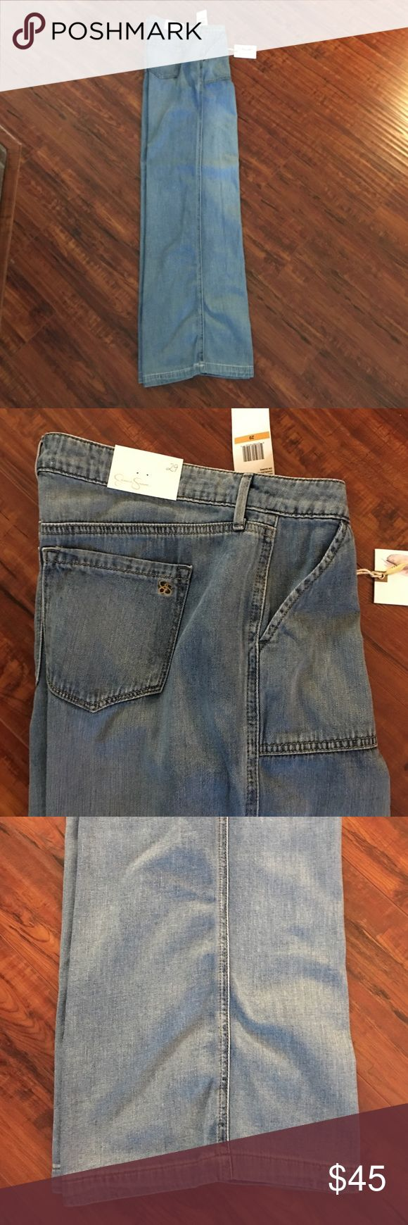 🎀🆕Jessica Simpson Faded Flared Leg Jeans🎀 So comfortable and sexy on, these brand new Jessica Simpson flared, faded jeans would look great with a fitted top to show off your waist! Jessica Simpson Jeans Flare & Wide Leg