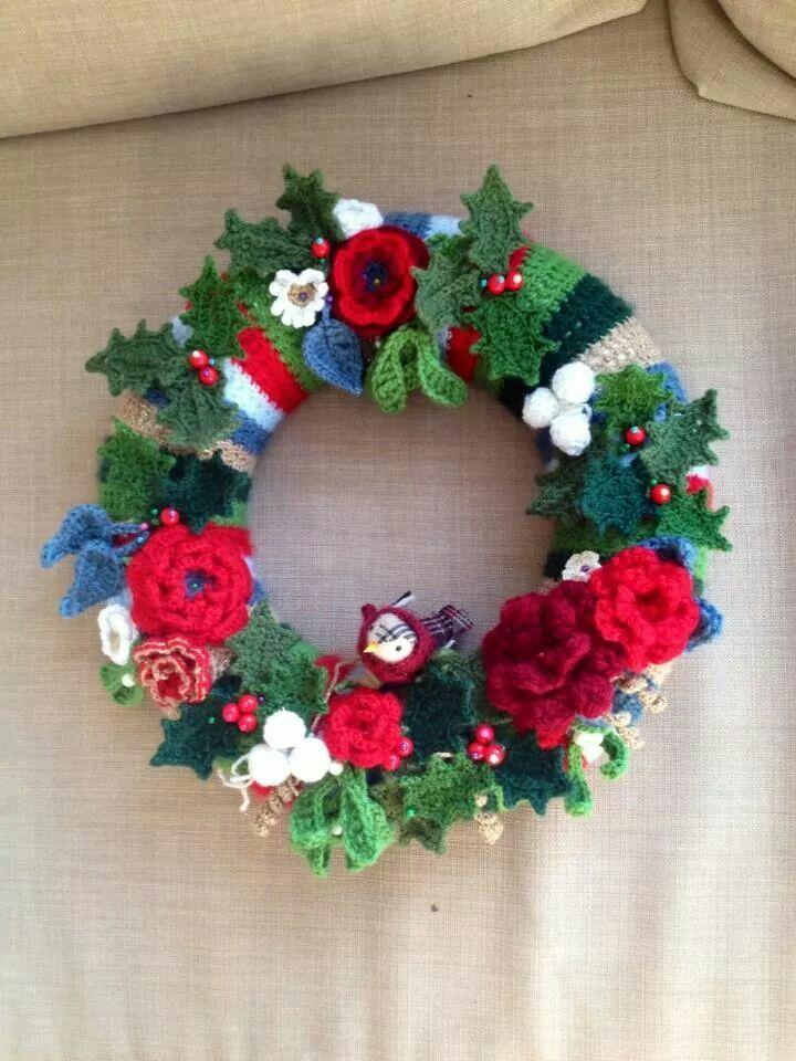 Attic24 Christmas Wreath Cristmas Crochet Pinterest