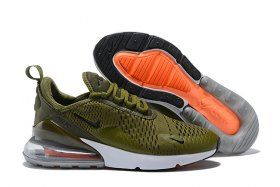 Hot Selling Nike Air Max 270 Flyknit Army Green White AH8050 300 Men s  Running Shoes Sneakers 4127867c75d6