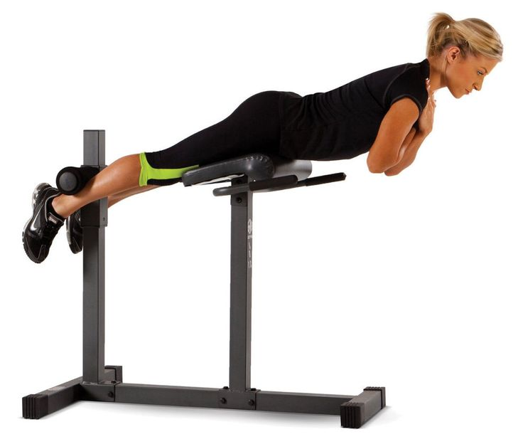 Roman Chair Hyperextension Bench Lower Back Abdominal Glutes Workout Fitness Gym Marcy On