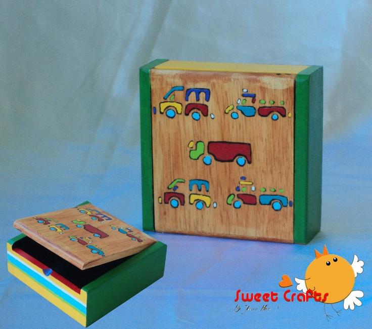 $7  Cajita infantil, un hermoso decorado para los chiquillos del hogar, se pueden colocar cualquier tipo de objetos del niño: crayolas, lapices de colores, marcadores o sus soldaditos de juguetes