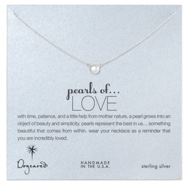 Dogeared Pearls of Love Sterling Silver Reminder Necklace, $59.95