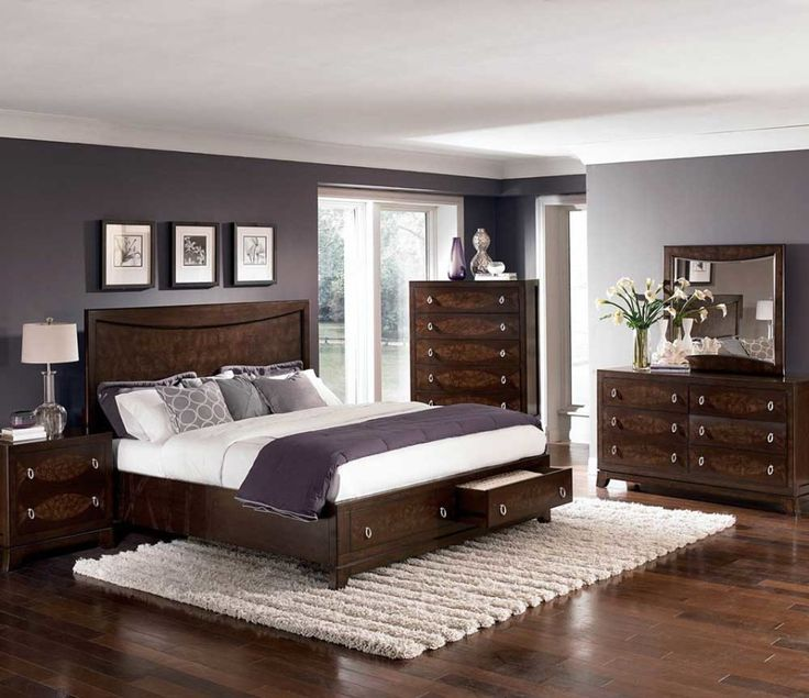 Bedroom:Design Storage Platform Bedroom Sets Modern Bedroom Dark Brown Wooden Bed Frameed Under Bed Drawers Headboard Also White Fitted Sheet Cushions Also Ideas Cozy Bedroom Design Ideas With Built-in Fireplace