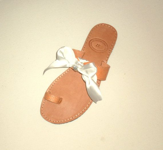 Bridal Shoes - decorated handmade leather sandals 49.5$