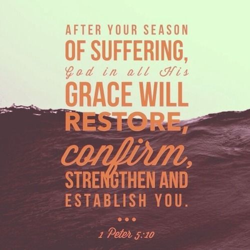 how suffering strengthens our faith in god God will fill our requests that are for those resources and pruning treatments that will as an example of suffering and how to strengthen your faith.