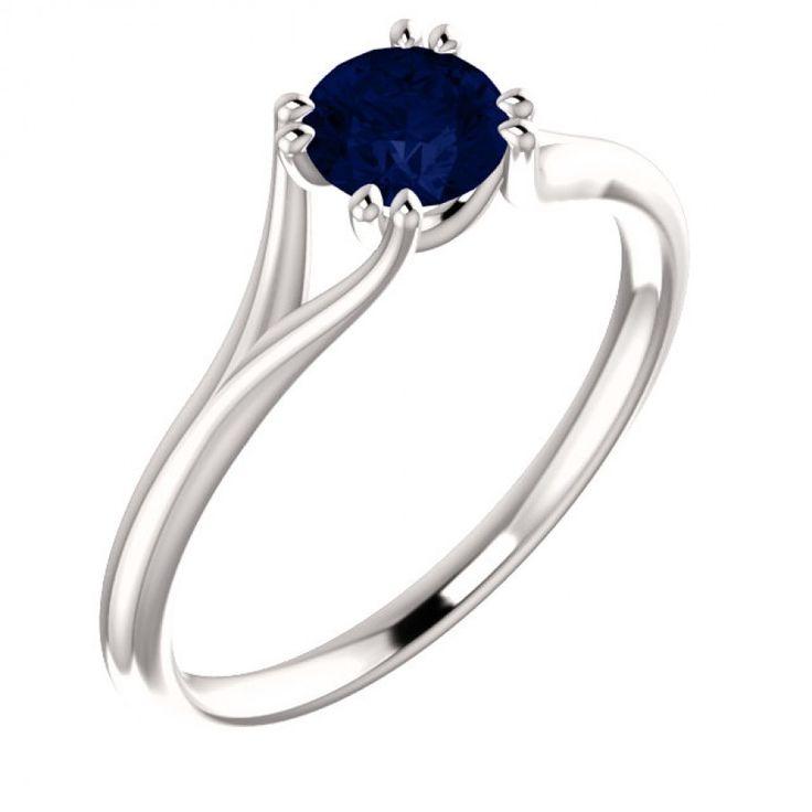 Eljegyzési arany gyűrű zafírral 123016SF