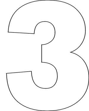 Number Stencils Set 1: Number Stencils: No. 3
