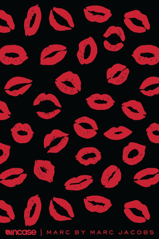 Red Lips Background Wallpaper Wallpapers De Marc By Jacobs Para Incase