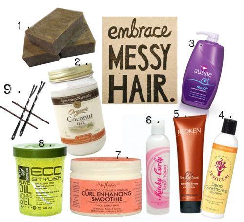 Summer Hair: Natural Hair Products