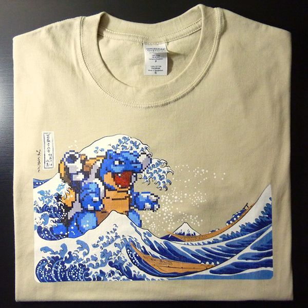 I Choose You T-Shirt: Pokémon Meets Hokusai, is Super Effective