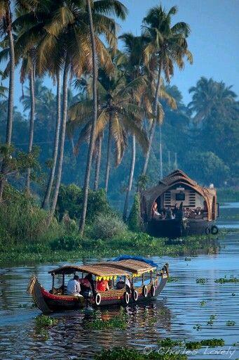Kerela backwater. India