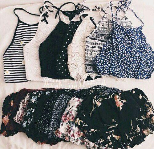 Crop tops. Cute summer outfits