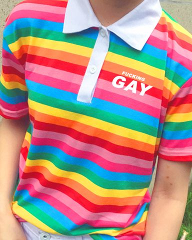 Pre-Order Fucking Gay Polo http://shop.inu-inu.co/FuckingGayPolo #kawaii #cute…