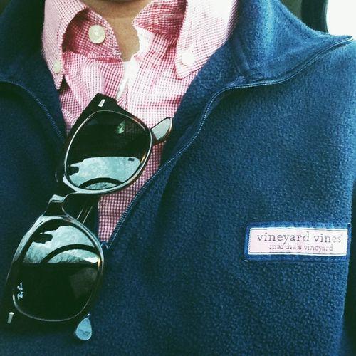 Ray bans, Vineyard Vines, and an oxford.  True DAVID attire.
