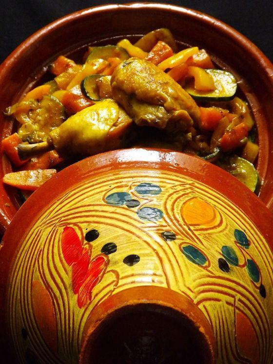 Tajine poulet courgette poivron carotte (3)