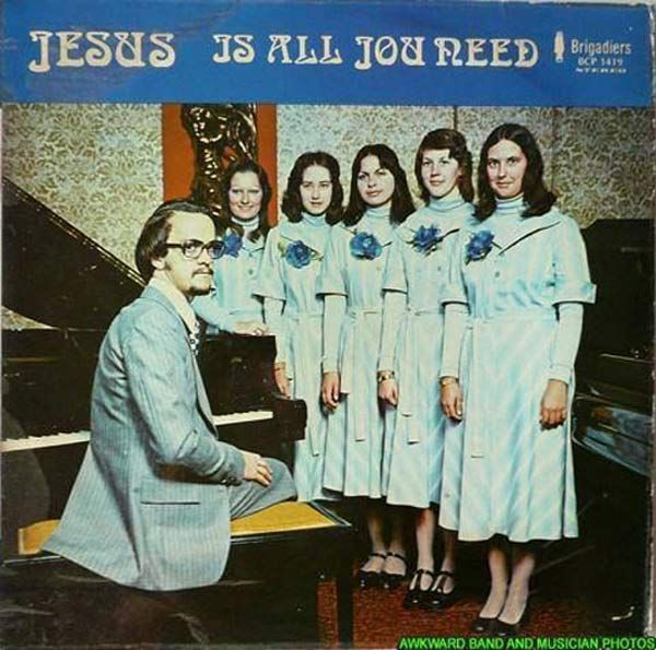Jesus is All You Need and a bunch of young wifes ~ Creepy album cover art