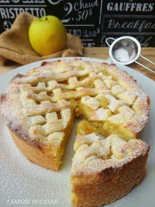 Oggi voglio proporti la crostata cuor di mela,dolce delizioso composto da una morbida frolla lievitata farcita con una golosa crema di mele.