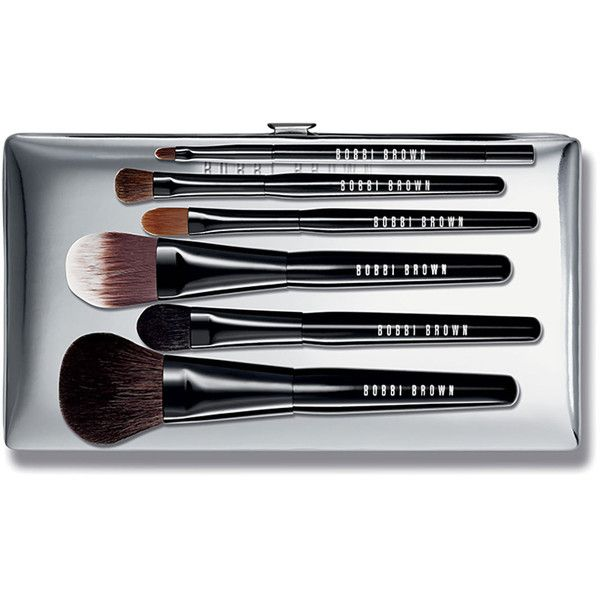 Bobbi Brown Luxe Brush Set ($175) ❤ liked on Polyvore featuring beauty products, makeup, makeup tools, makeup brushes, set of makeup brushes, makeup blending brush, foundation brush, bobbi brown cosmetics and shadow brush