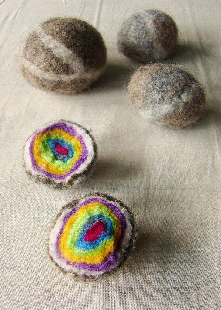 Kids Craft - Felted Geode Rocks Free Tutorial #kids #craft #children #education