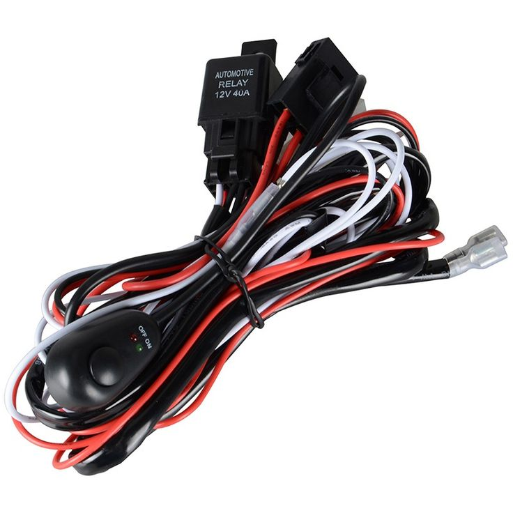 Wire Relay Harness Kit 2m for 100W 72W 36W 108W 27W 48W LED Light Bar LED Work Light for Off Road ATV Jeep Pickup Truck //Price: $14.45      #FirstDayOfSummer