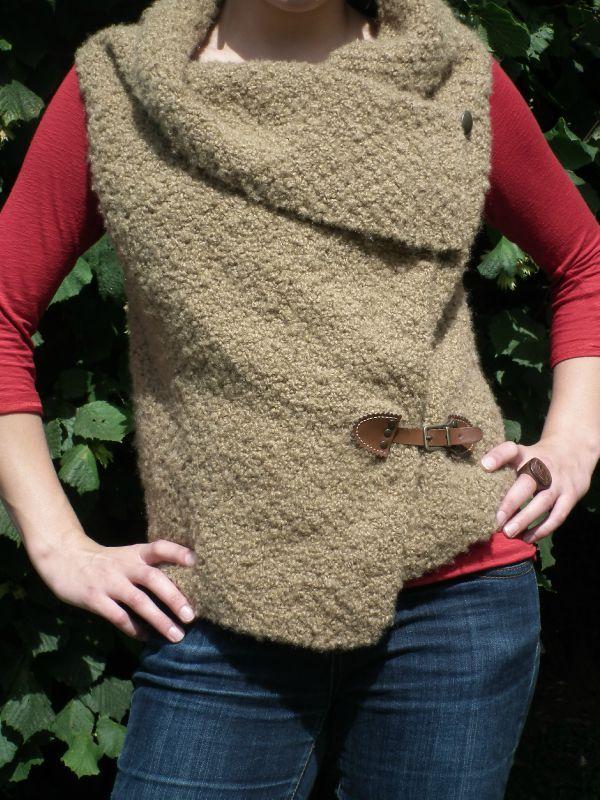 modele a tricoter gilet sans manche femme
