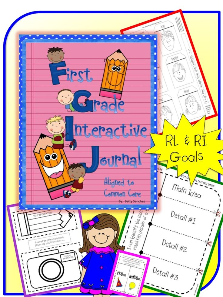 First Grade Interactive Reading Journals for CCSS RL & RI Goals.  $2.00