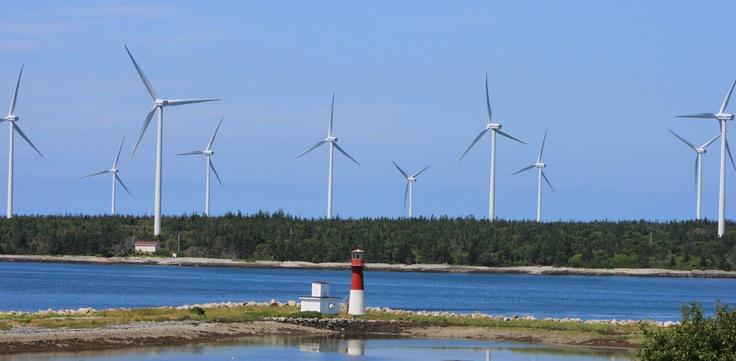 Pubnico Point Wind Farm, #NovaScotia, Canada. - Rachel Doucette