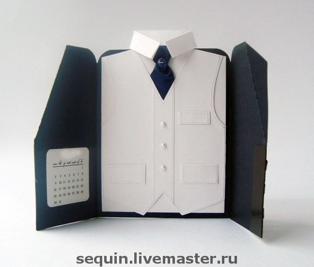 Открытка пиджак своими руками мужчине