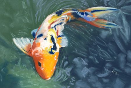 1000 images about koi fish art on pinterest koi art for Coy fish painting