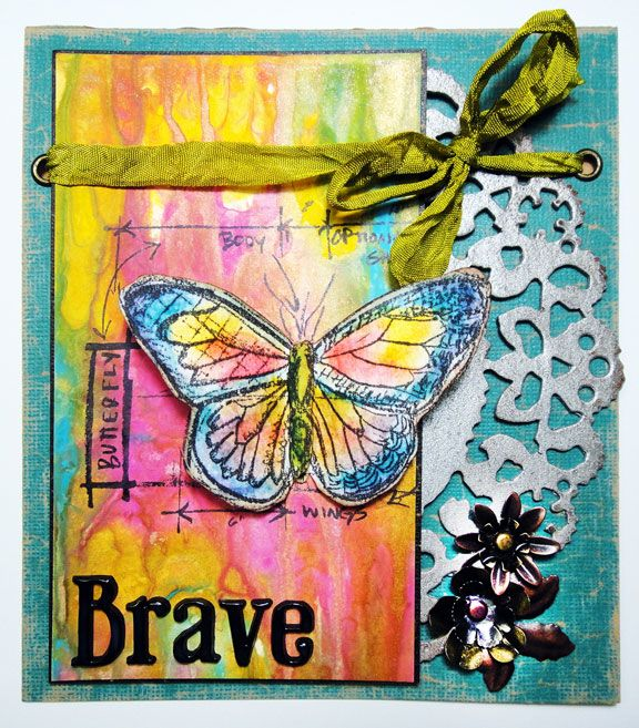 Brave Card by Tim Holtz: http://rangerink.com/?ranger_project=brave-card-by-tim-holtz