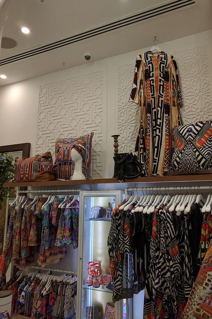 Laser cut decorative screen 'Istanbul' design (left side) by QAQ Decorative Screens & Panels installed at Camilla's at the Emporium Melbourne.