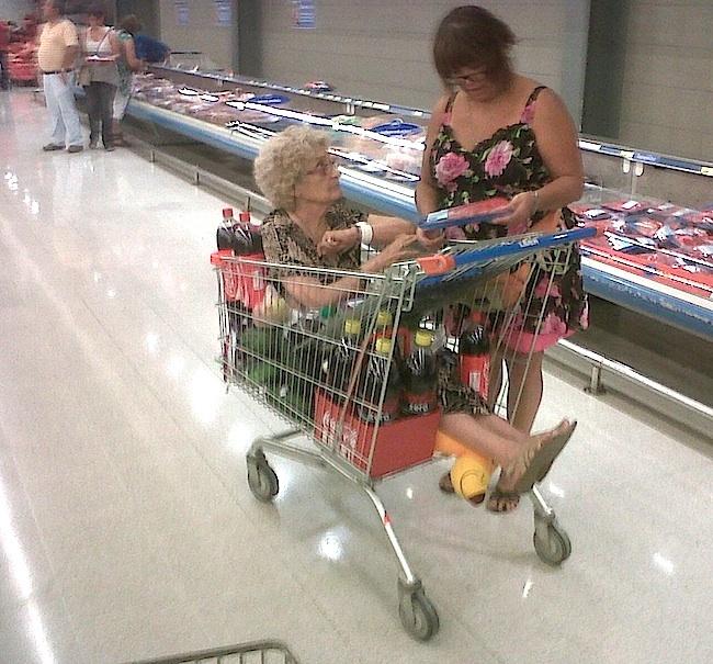 Grandma at the store