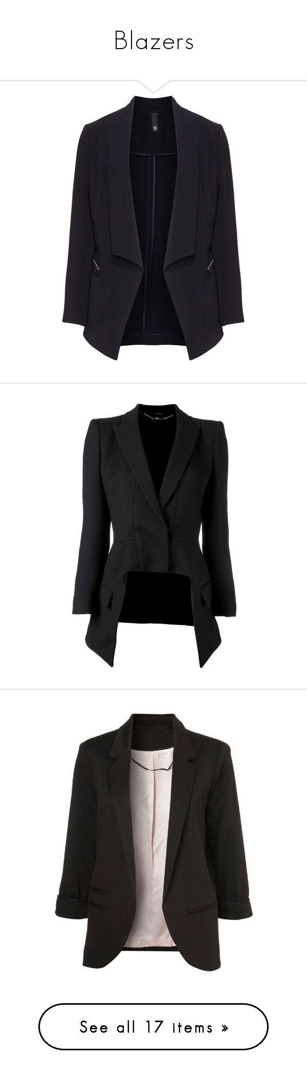 """""""Blazers"""" by random11-1 ❤ liked on Polyvore featuring outerwear, jackets, blazers, blazer, black, plus size, training jacket, blazer jacket, zip jacket and zip blazer"""