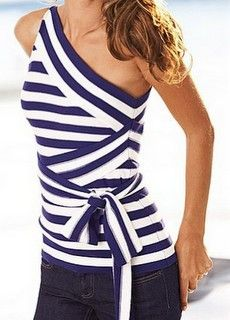LOVE THISNautical Style, Nautical Clothing, Summer Fashion, Shirts, Summer Style, Stripes Tops, One Shoulder, Victoria Secret, Summer Tops