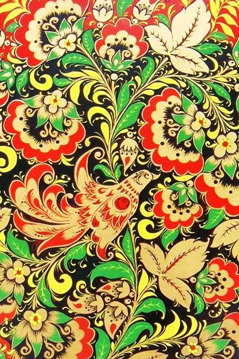 Russian traditional Khokhloma painting #folk #art